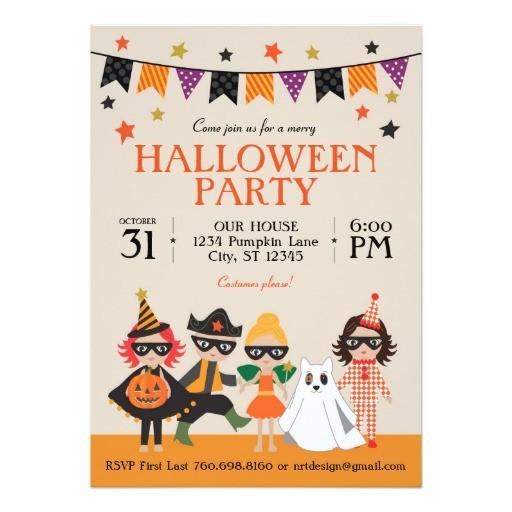 vintage kids halloween party invitation 256664401517074357