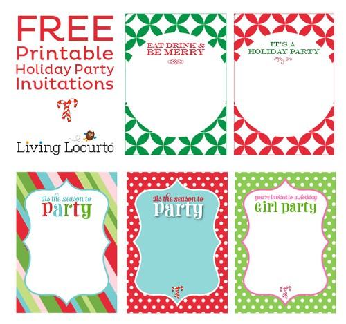 diy free printable holiday party invitations
