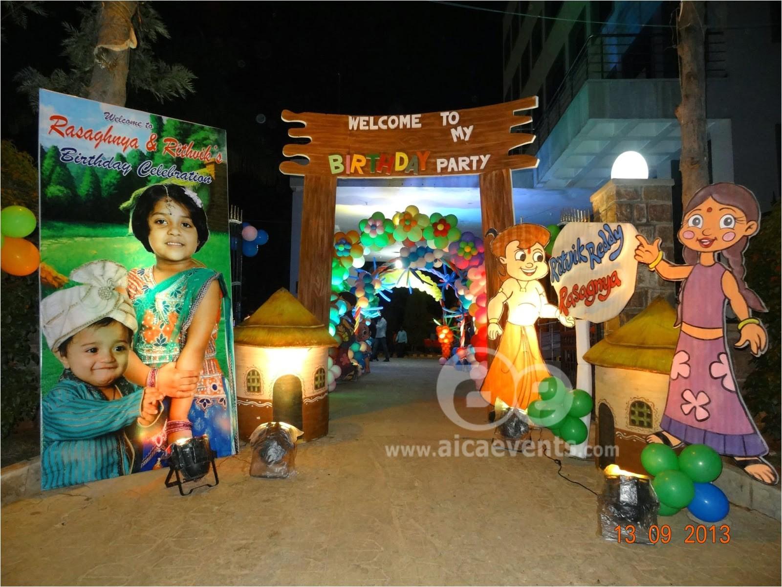 chota bheem theme party decorations