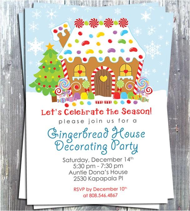 Gingerbread House Decoration Party Invitation E file