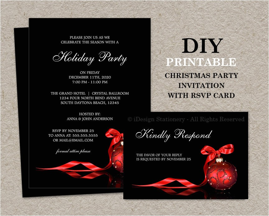 christmas invitations with rsvp cards