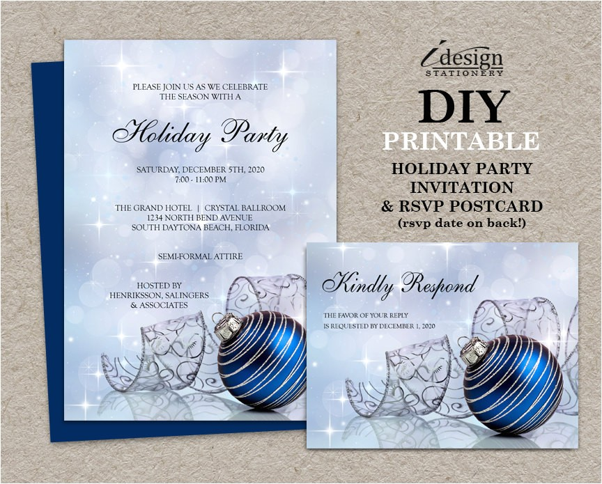 christmas party invitations with rsvp