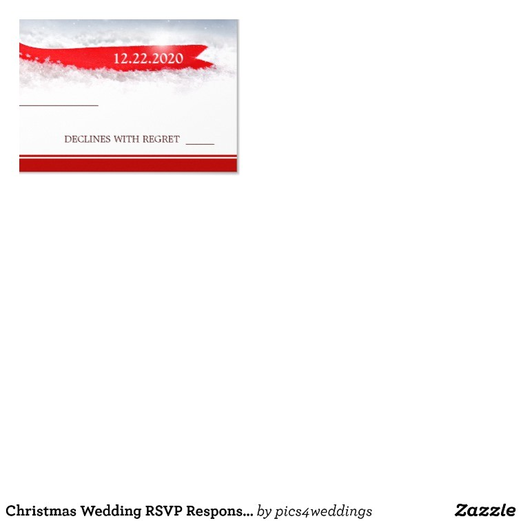 christmas wedding rsvp response card template