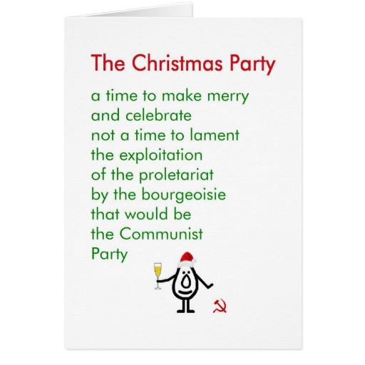 the christmas party a funny christmas poem greeting card 137098775025687224