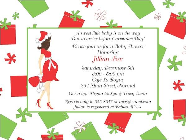 Christmas Baby Shower Invitations