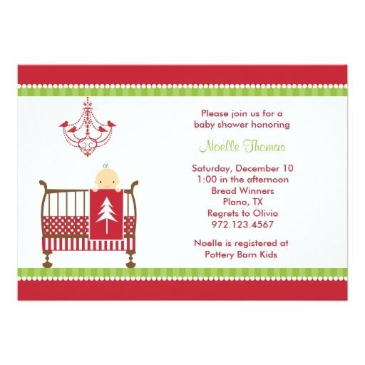 christmas crib baby shower invitations