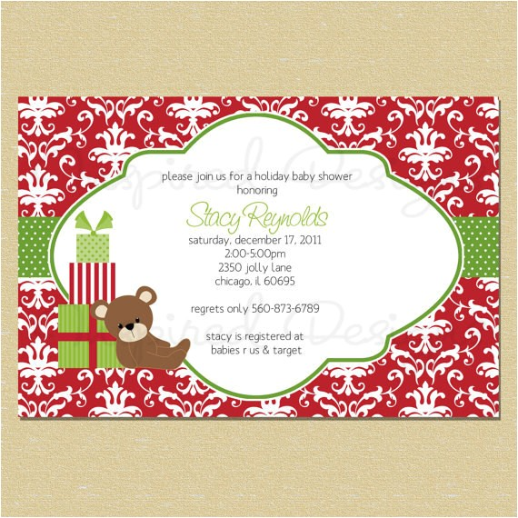 christmas bear t holiday baby shower