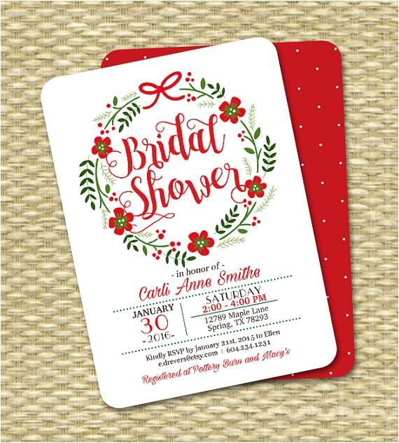 christmas bridal shower invitation holiday bridal 11
