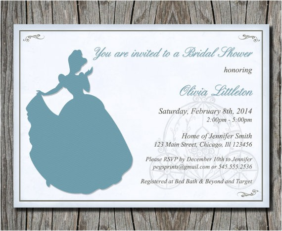 disneys cinderella bridal shower