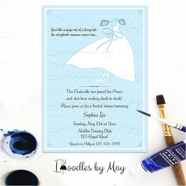 bridal shower invitations cinderella