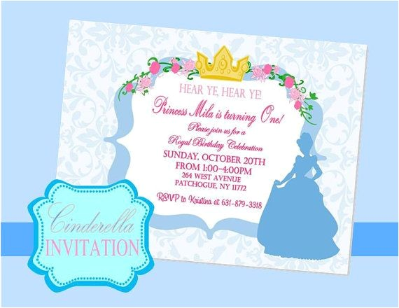 cinderella party invitations
