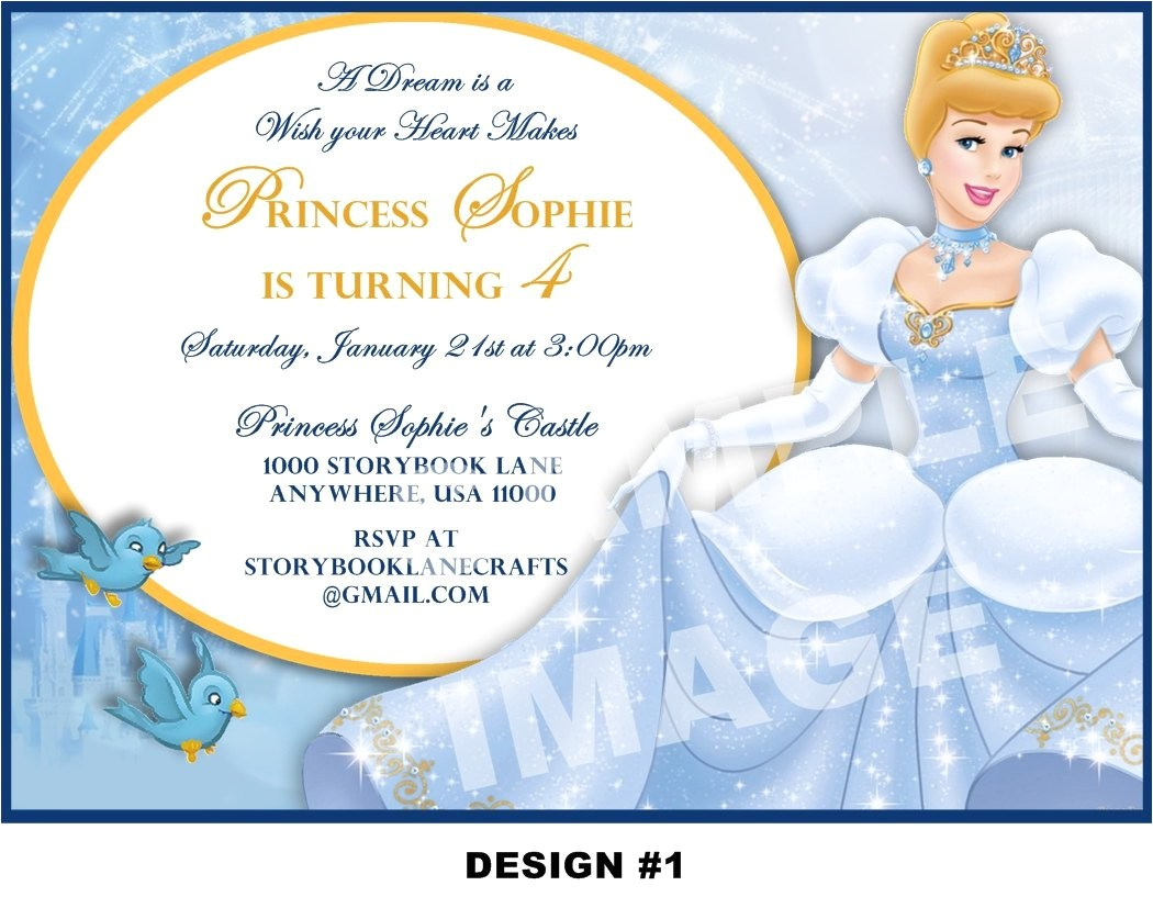 cinderella birthday invitation wording