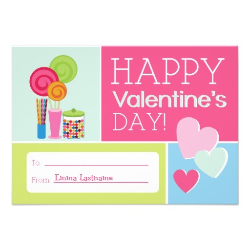 candy hearts kids school classroom valentine invitation
