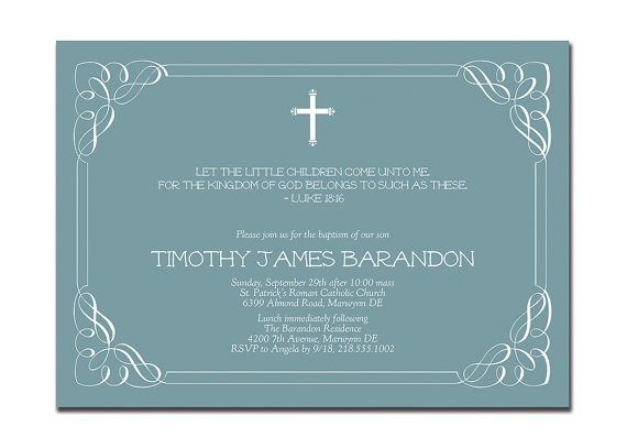 baptism invitation modern classic christening invitation 2
