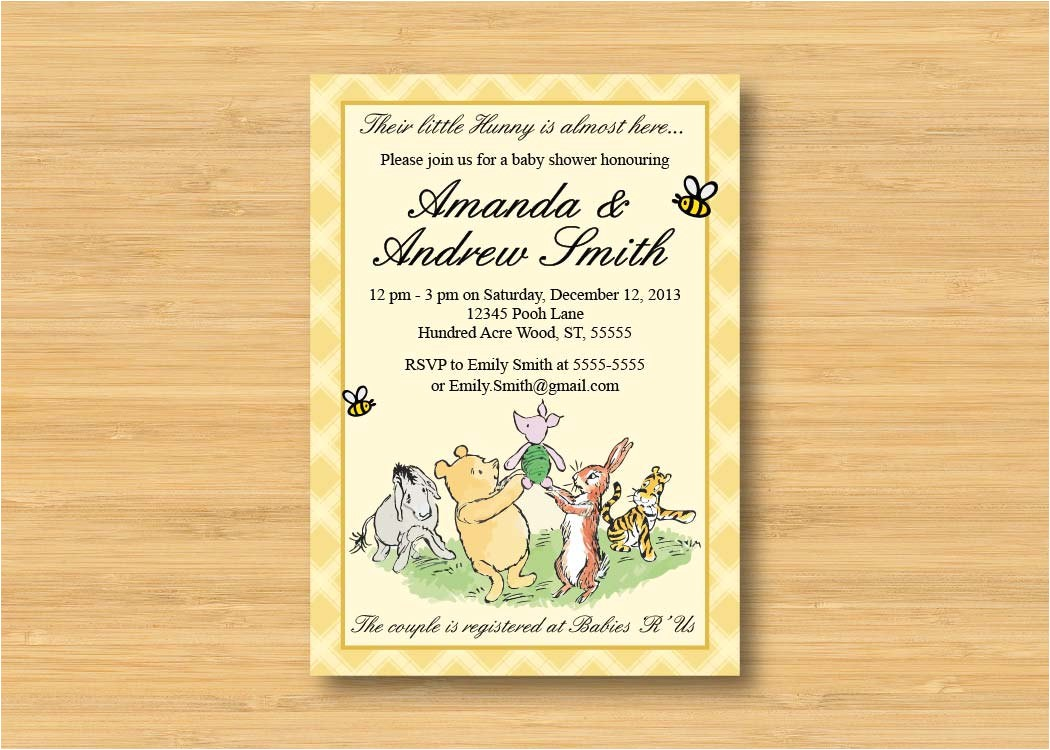 classic winnie the pooh baby shower