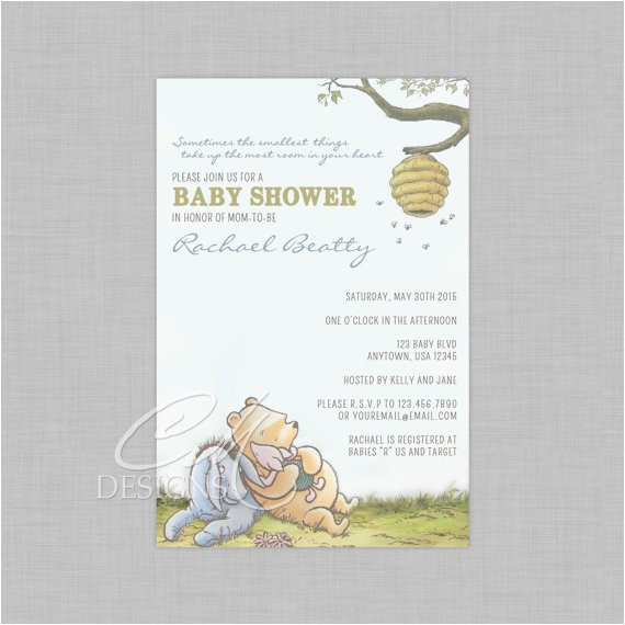 Classic Winnie the Pooh Baby Shower Invites Classic Winnie the Pooh Baby Shower Invite by