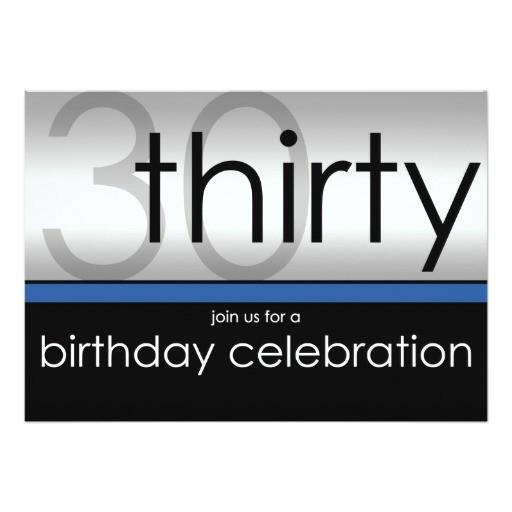 classy modern 30th birthday invitations