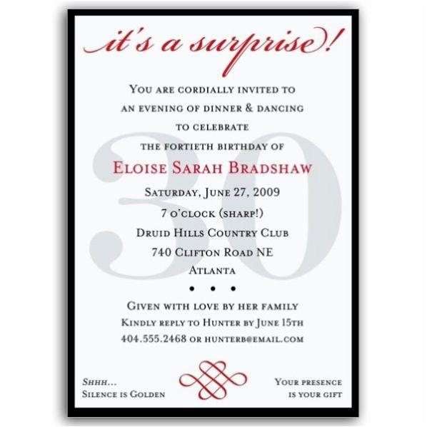 elegant 30th birthday invitation wording photo