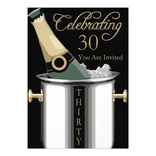 classy 30th birthday party personalized invitation