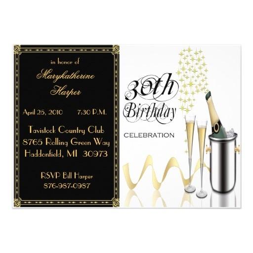 elegant 30th birthday party invitation