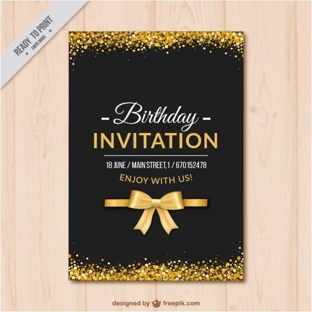 elegant birthday invitation templates 2222