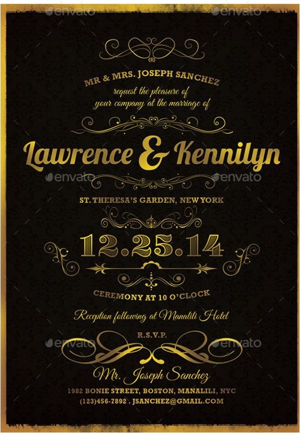 elegant invitation templates