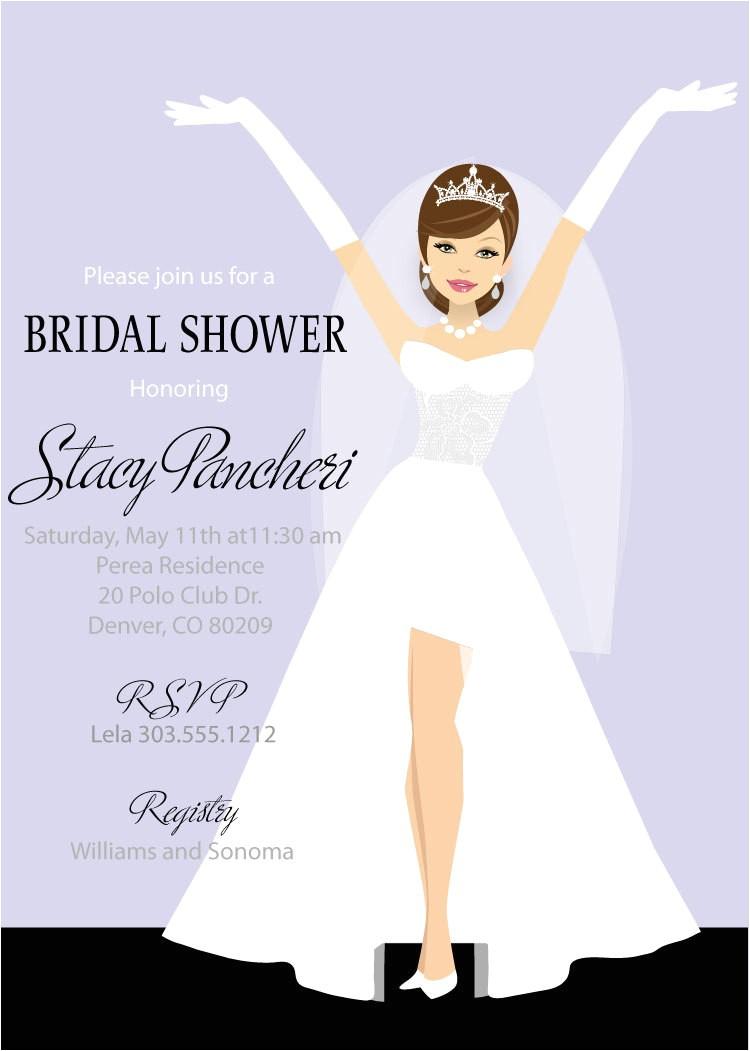 classy bride bridal shower invitations printable digital bridal shower invitation
