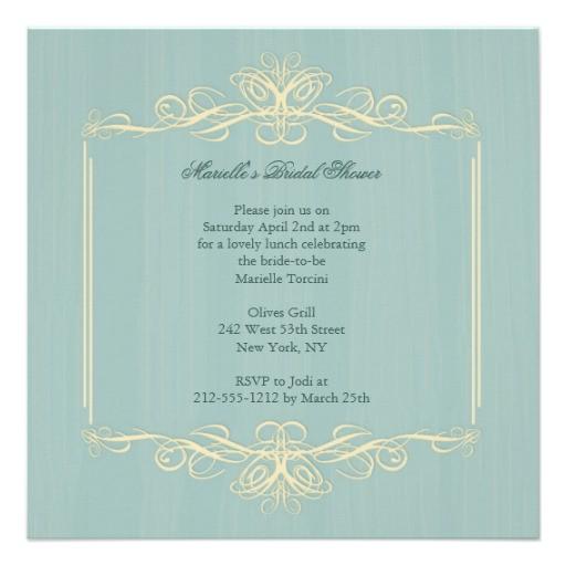 classy bride to be bridal shower invitation