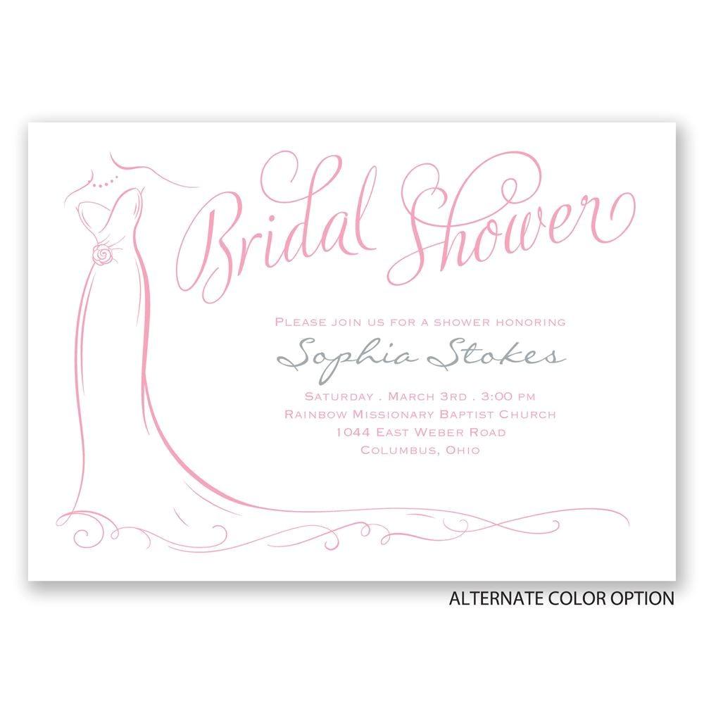 Classy Bridal Shower Invitations Elegant Bride Bridal Shower Invitation