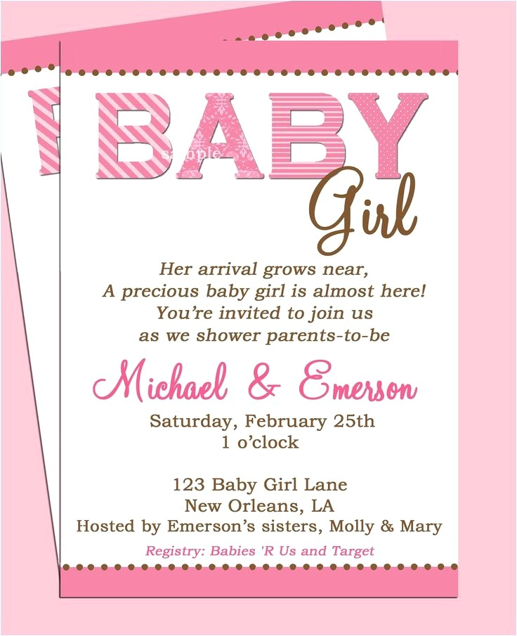 clever baby shower invite wording