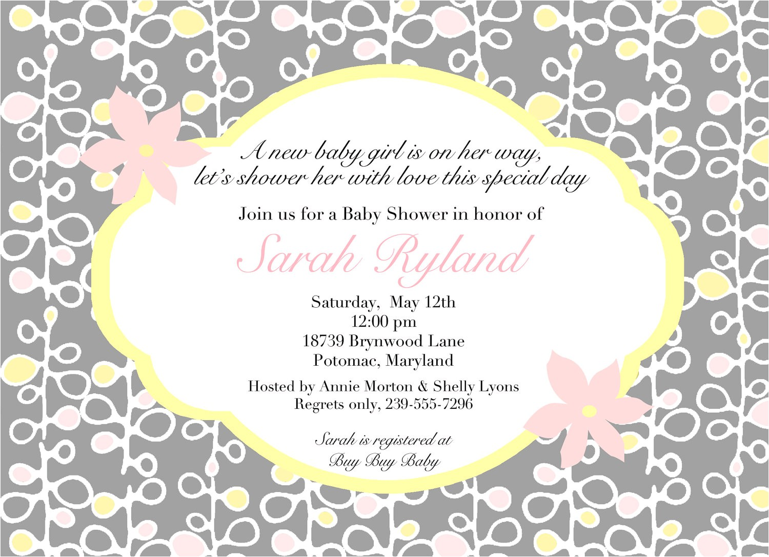 creative baby shower invitation wording