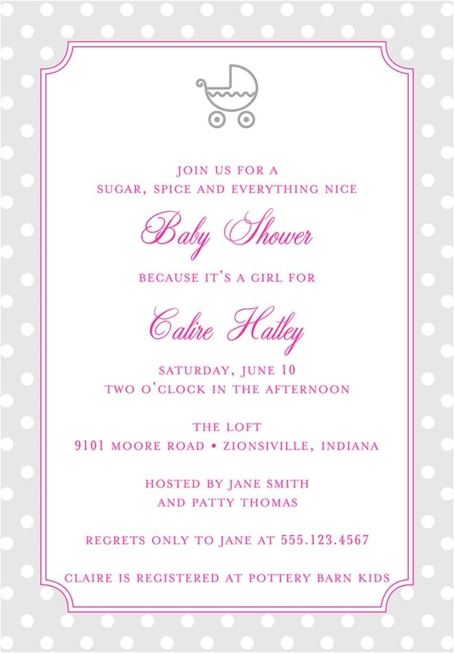 fascinating baby girl shower invitation wording ideas
