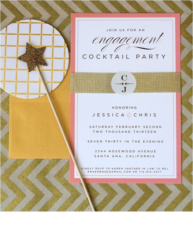 engagement cocktail party invitations wording ideas