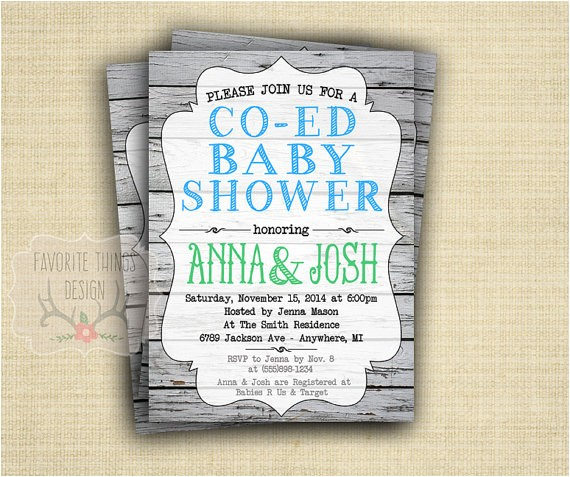 co ed baby shower invitation coed baby