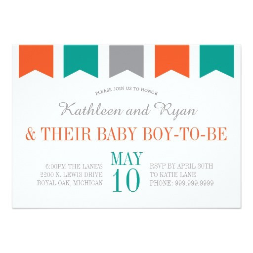 co ed baby shower invitation