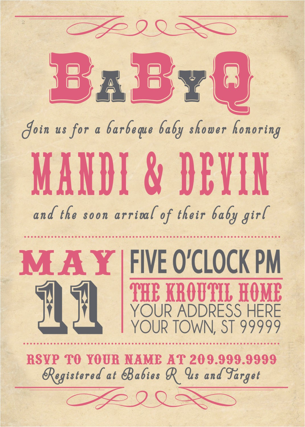 co ed baby shower invitations