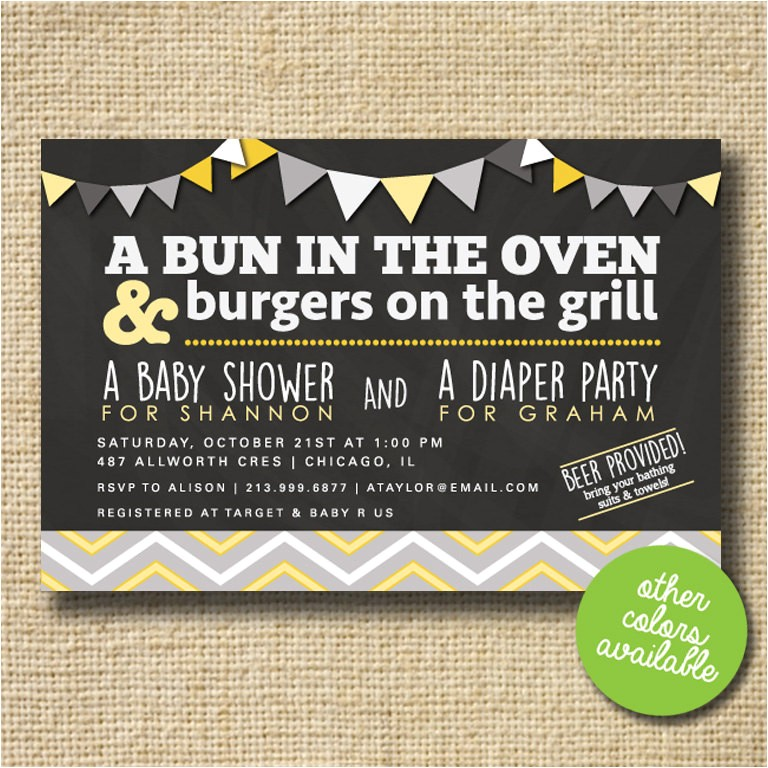 couples baby shower invitation co ed