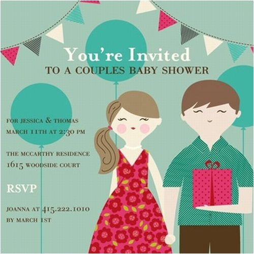 fun coed baby shower invitation and favor ideas
