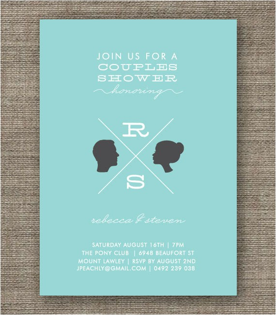 co ed couples shower invitation