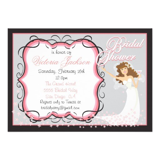 modern chic bridal shower cocktail party invites