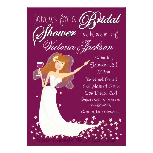 modern wine bridal shower cocktail party invites