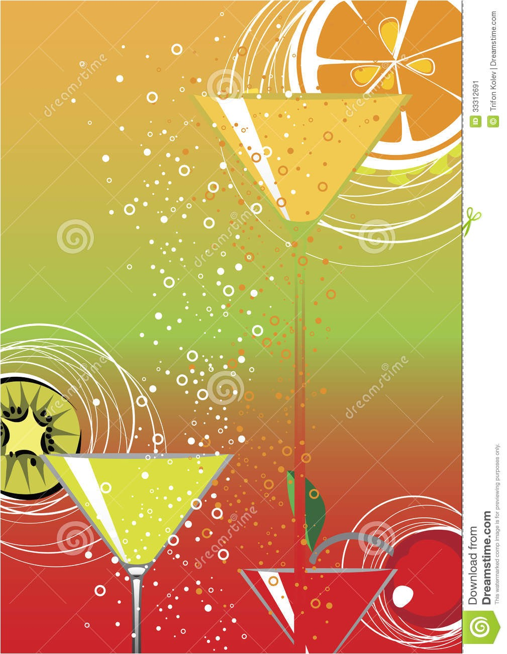 stock image cocktail party colorful vector background image33312691