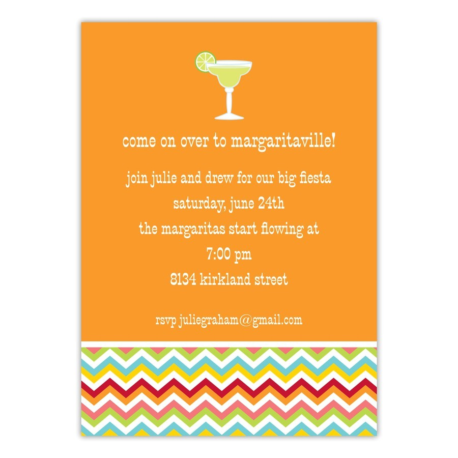 interesting orange background color for cocktail party invitation card and white font