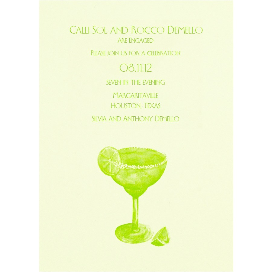 perfect gray background colors with margarita with lime cocktail party invitation card with lime green font colors