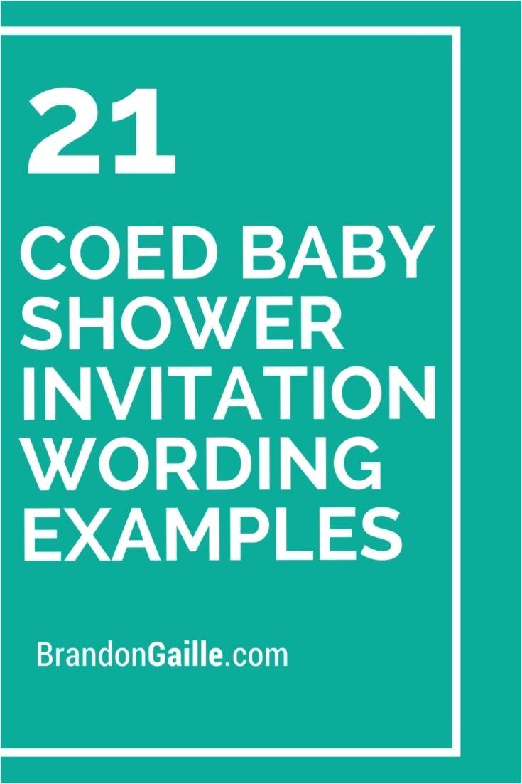 Coed Baby Shower Invitation Templates 21 Coed Baby Shower Invitation Wording Examples