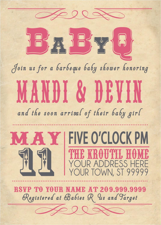 free coed baby shower invitations ideas