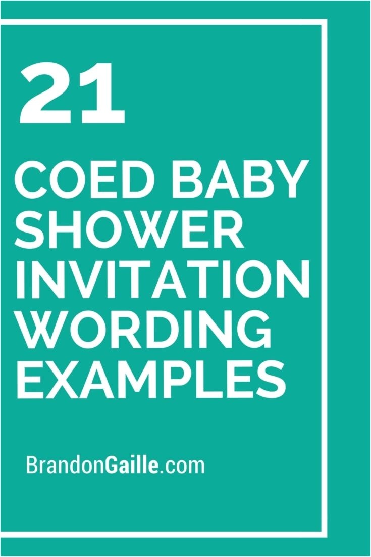 Coed Baby Shower Invites Wording 21 Coed Baby Shower Invitation Wording Examples