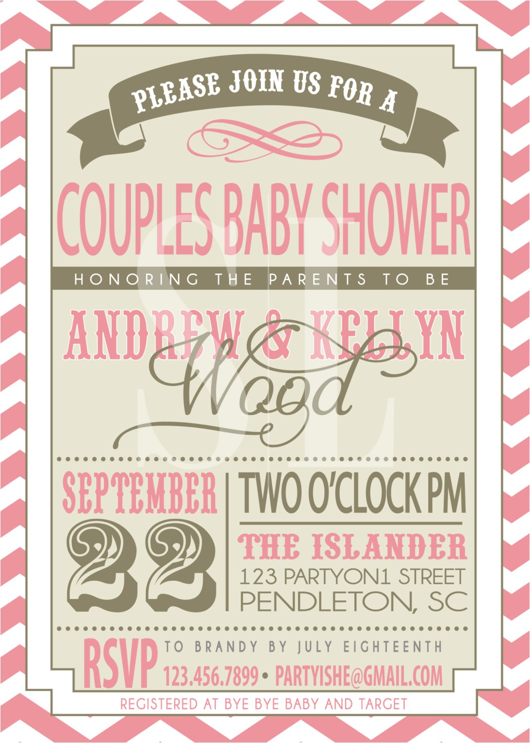 coed baby shower invites