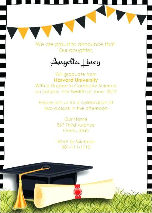college graduation party invitation template