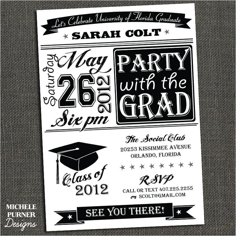 college graduation party invitations template